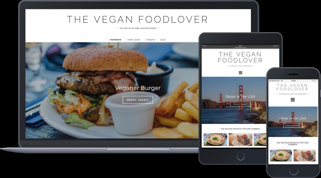 Ein Foodblog, der mit Wordpress erstellt wurde.